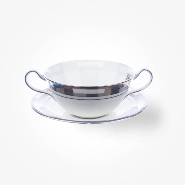 Empress White Platinum Cream Soup & Stand