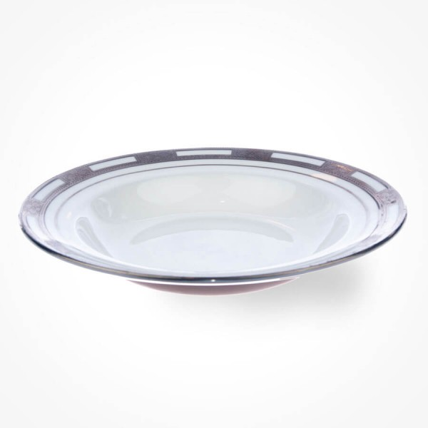 Empress White Platinum Soup Plate 9.25 inch