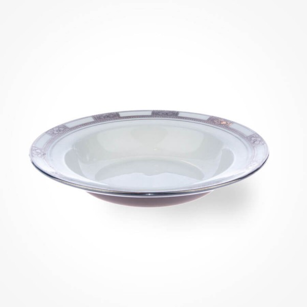 Empress White Platinum Soup Plate 7.75 inch