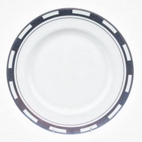 Empress White Platinum Dinner Plate 10.5 inch