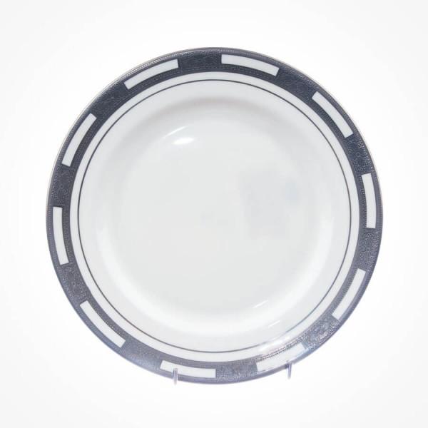 Empress White Platinum Fish Plate 9.25 inch