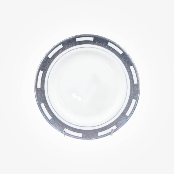 Empress White Platinum Cheese Plate 7.25 inch