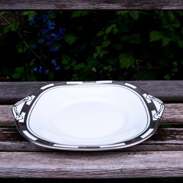 Empress White Platinum Cake Plate (B&B) Square