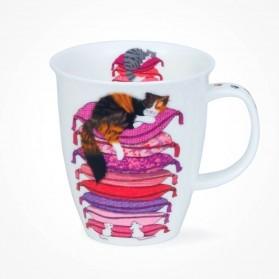 Dunoon Nevis Sleepy Cats Pink