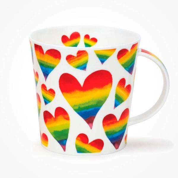 Dunoon Cairngorm mug Rainbow Hearts