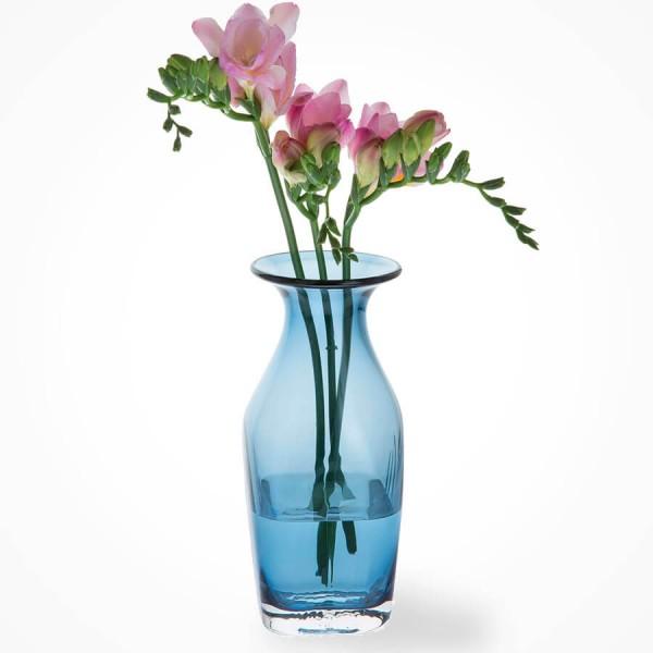 Dartington Finbarr Vase Ink Blue 21cm