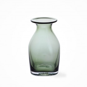 Dartington Finbarr Vase Olive Green 18cm