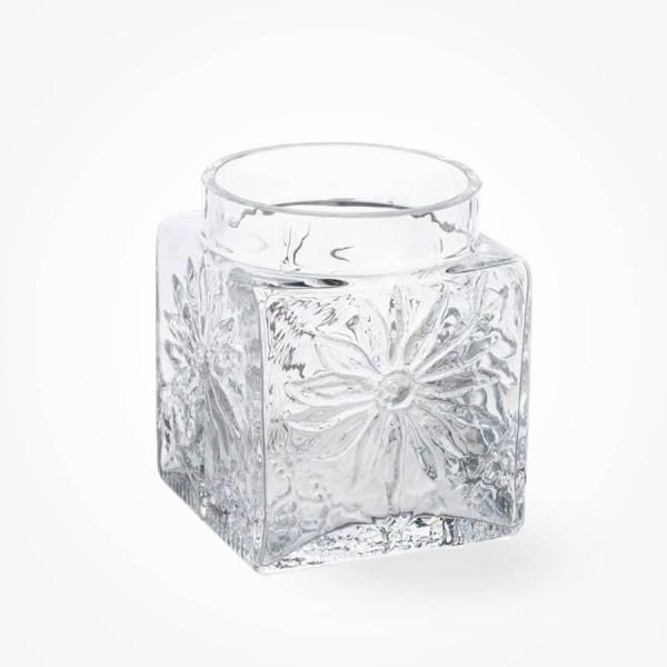Dartington Marguerite Square Vase Clear