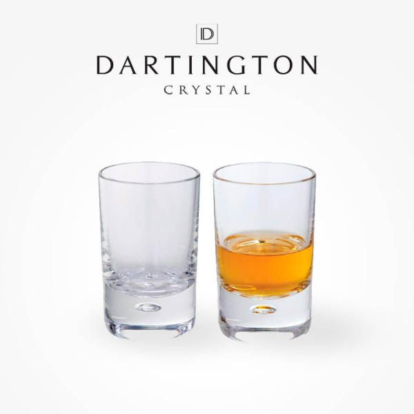 Dartington Crystal Exmoor Shot Glass Pair