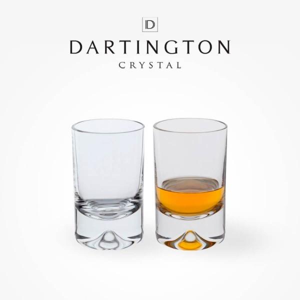 Dartington Crystal Dimple Shot Glass Pair