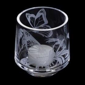 Dartington Crystal Aspect Votive Butterflies Tea light holder