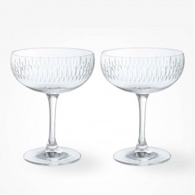 Dartington Crystal Limelight Mitre Champagne Saucer Pair