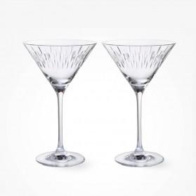 Dartington Crystal Limelight Mitre Martini Pair