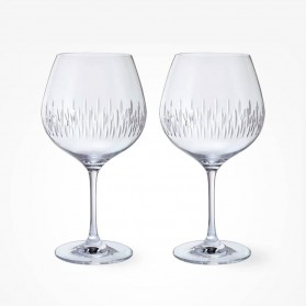 Dartington Crystal Limelight Mitre Copa Gin Pair