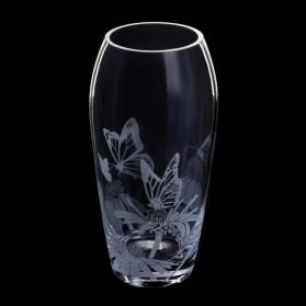 Dartington Crystal Aspect Vase Butterflies