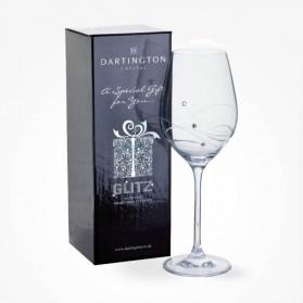Dartington Crystal Glitz Single Wine Glass Gift Boxed