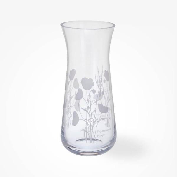 Dartington Crystal Bloom Small Vase Poppy