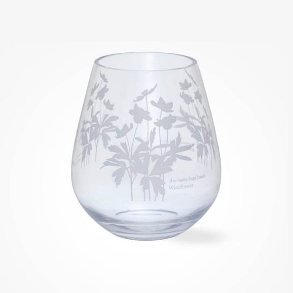 Dartington Crystal Bloom Wide Vase Windflower
