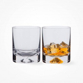 Dartington Crystal Dimple Old Fashioned Whisky Glasses Pair