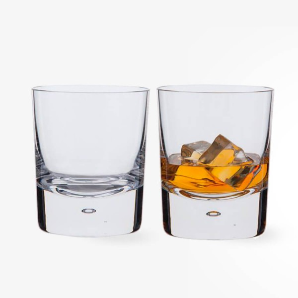 Dartington Crystal Exmoor Double Old Fashioned Glasses Pair