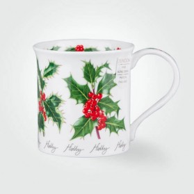 Dunoon Mugs Bute Winter Flowers Holly