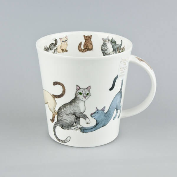 Cat Mug Dunoon Cairngorm Paws for Thought Grey