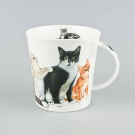 Dunoon Mugs Cairngorm Cats and Kittens Black & White