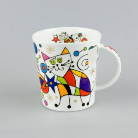 Dunoon Lomond Curious Cats Star cat mug