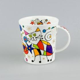 Dunoon Lomond Curious Cats Star cat mug