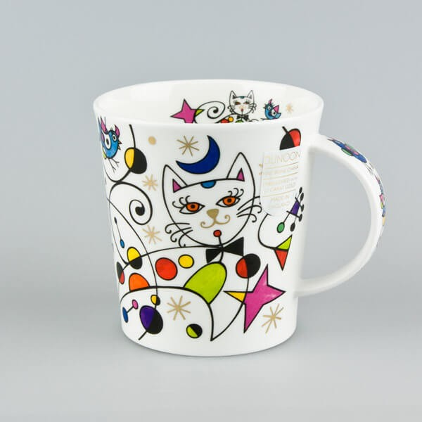 Dunoon Lomond Curious Cats Moon Cat Mug