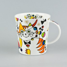 Dunoon Lomond Curious Cats Heart Cat Mug