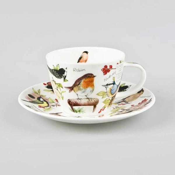 Dunoon Birdlife Tea cup & Saucer Gift Box