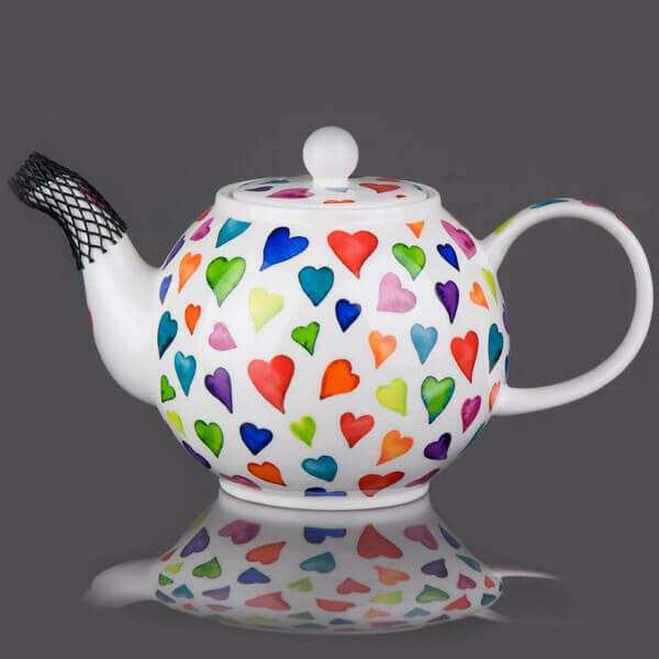 Dunoon Warm Hearts Large Size Teapot Gift Box Set