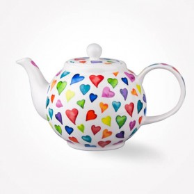 Dunoon Warm Hearts Tea pot Teapot 0.75L Gift Box