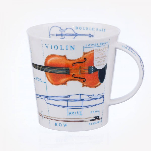 Dunoon Mugs Cairngorm Music Icons Violin Cello