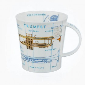 Dunoon Mugs Cairngorm Music Icons Trumpet Saxophone