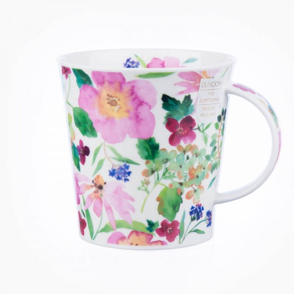 Dunoon Mugs Cairngorm Scattered Flowers Pink