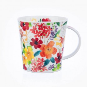 Dunoon Mugs Cairngorm Scattered Flowers Red