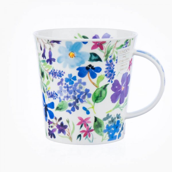 Dunoon Mugs Cairngorm Scattered Flowers Blue