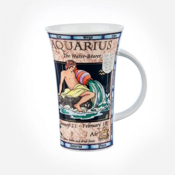 Dunoon Mugs Glencoe Zodiacs Aquarius