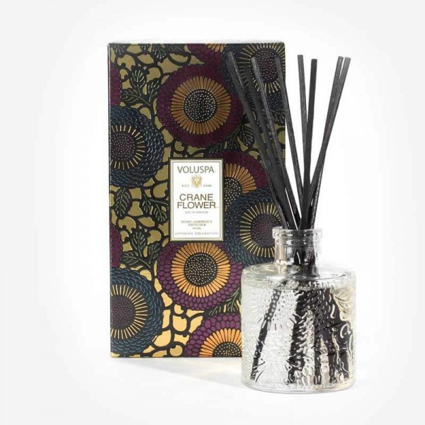 JAPONICA Mini Reed Diffuser 100ml Crane Flower