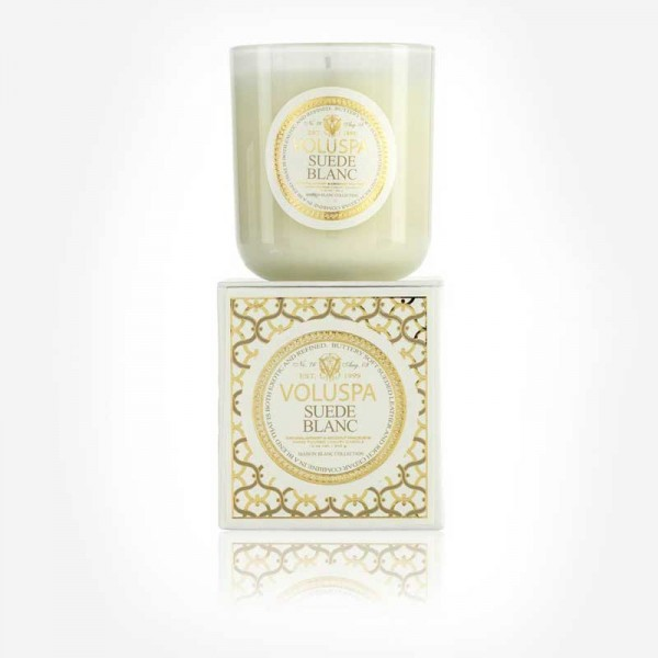 MAISON BLANC 12oz Boxed Candle Suede Blanc