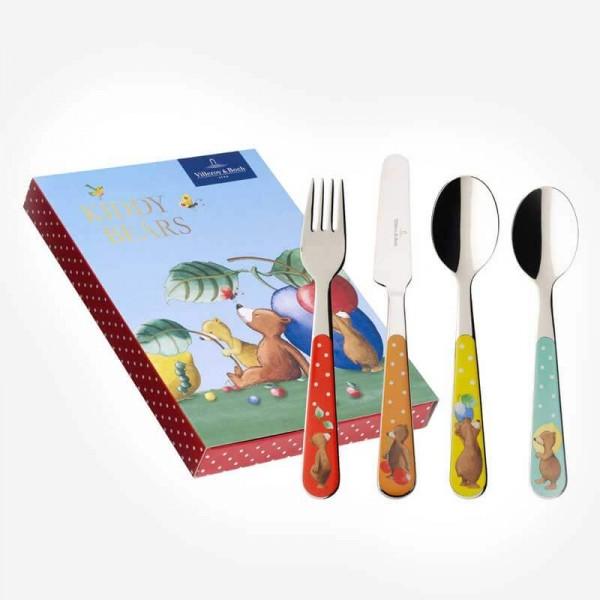 Kiddy Bears Children Cutlery set 4 pcs