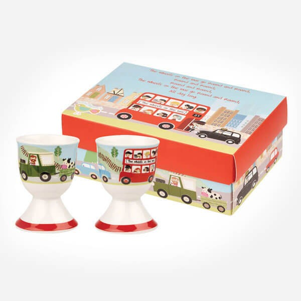 Wheels on the Bus Set of 2 Egg Cups