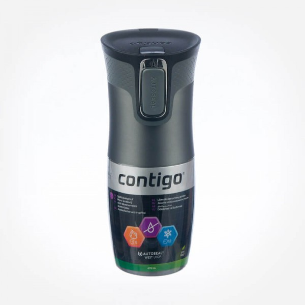 Contigo West Loop Double Wall Vacuum Insulated Tumbler Gunmetal Transparent Matte