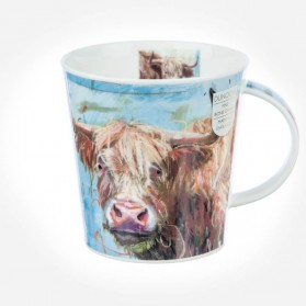 Dunoon Mugs Cairngorm Animals on Canvas Highland Cow