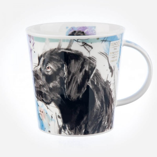 Dunoon Cairngorm Dogs on Canvas FLAT COAT RETRIEVER