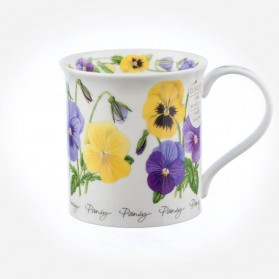 Dunoon Mugs Bute Winter Flowers Pansy