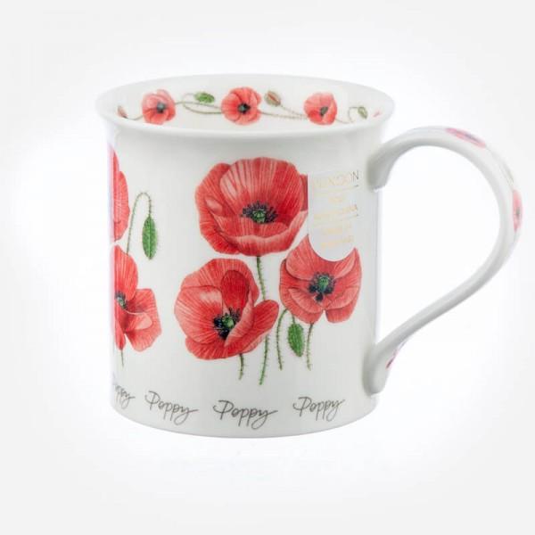 Dunoon Mugs Bute Summer Flowers Poppy