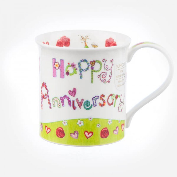 Dunoon Mugs Bute Greetings II Happy Anniversary